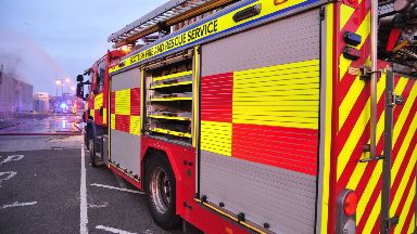 Fire: Firefighters were called to Rutherglen on Sunday.
