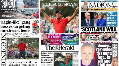 Read all about it: Front page news across Scotland on Monday.