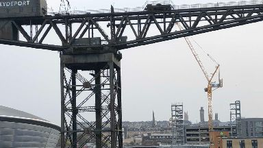 Glasgow: The protesters climbed the Finnieston Crane.