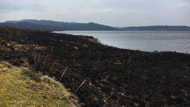 Loch Doon: The fire took three days to extinguish.