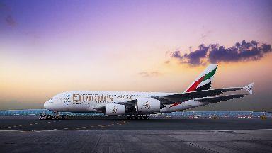Superjumbo: Emirates' A380 aircraft.