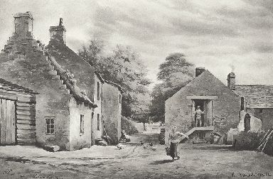 An artist's drawing of the old flour mill.
