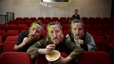 Popcorn ready: Keanu Reeves films will be shown all weekend.