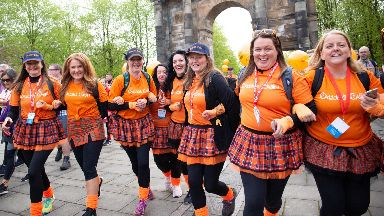 Kiltwalk: £7 million has been raised for charities