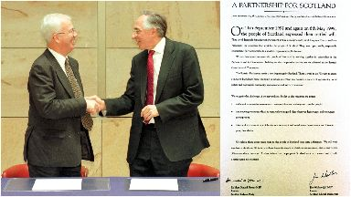 Jim Wallace and Donald Dewar eventually reached an agreement.