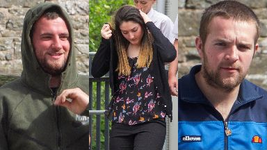 Killing: Steven Dickie, Callum Davidson and Tasmin Glass were found guilty.