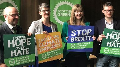 Scottish Greens European Parliament election launch Glasgow May 7 2019.