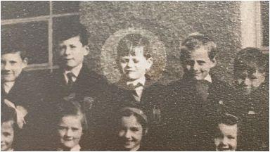 Dreamer: Dave MacKay at school in Helmsdale in the 1960s.