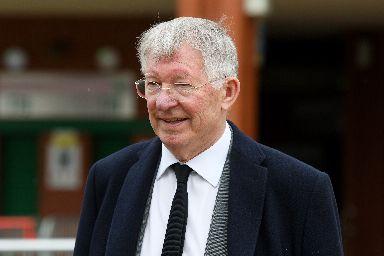 Mourning: Sir Alex Ferguson.
