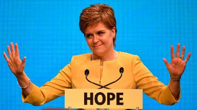 Nicola Sturgeon: Will set out plans in address to parliament (file pic).