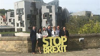 SNP: Nicola Sturgeon poses with European election candidates.