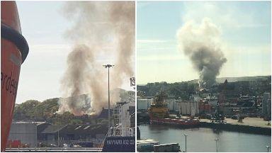 Fire: Smoke seen for miles in Aberdeen.