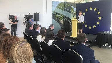 SNP: Nicola Sturgeon launched party's campaign on Thursday.