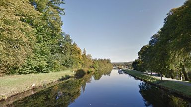 Crinan Canal: The man is yet to be identified.
