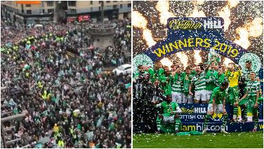 Celtic: Thousands of fans have blocked the road.