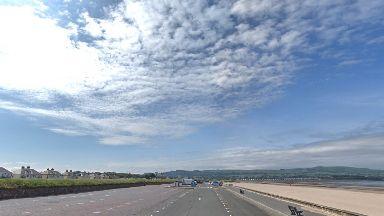 Ayr: South Ayrshire Council closed Blackburn car park at the seafront.