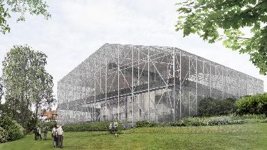 The Hill House: An artist's impression of the completed box.