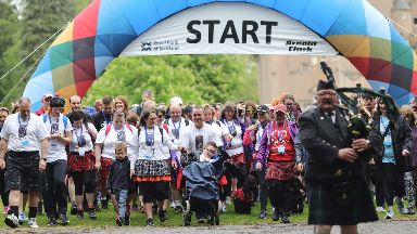 Kiltwalk: More than £800,000 was raised for charity.