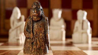 Historic: The medieval chess piece could fetch £1m at auction.