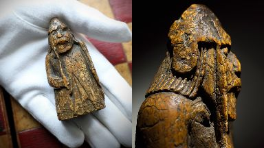 Auction: One of the long-lost Lewis Chessmen.