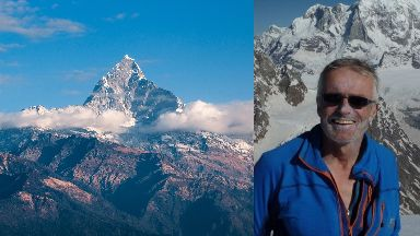 Missing: Martin Moran was climbing a peak in the Himalayas.