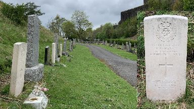 Sergeant James Wingate's grave at Balengeich Cemetery in Stirling.