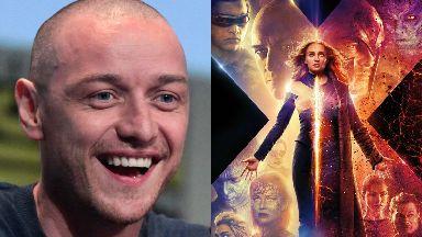 Superstar: James McAvoy got the giggles while filming Dark Phoenix.
