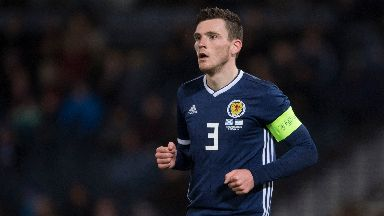 Robertson will lead Scotland out against Russia tonight.