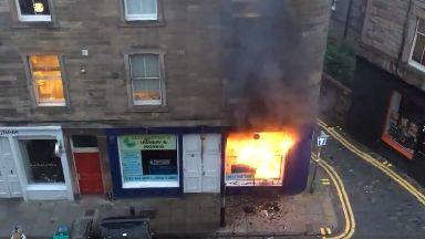 Edinburgh: Firefighters tackled the blaze in Raeburn Place.
