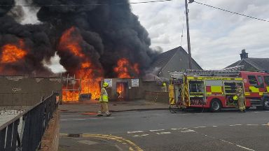 Blaze: More than 20 firefighters have been called.