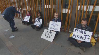 Protest: Holyrood demonstration.