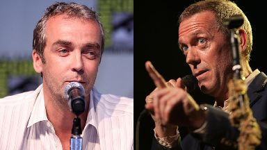 Mix-up: John Hannah and Hugh Laurie.