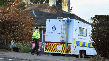 Investigation: Police searched the house in Inverkip.