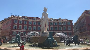 Nice's Fountain of the Sun.