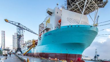 Aoka Mizu: The floating production and storage ship carried out the test.
