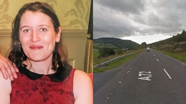 Borders: Donna Cameron died after the crash on the A72.