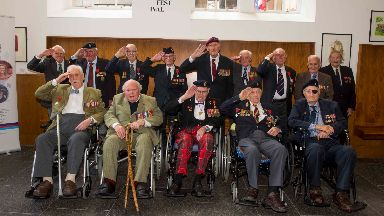D-Day veterans invited to the reception.