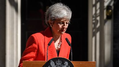 Theresa May: The race for the next leader will begin on Monday.