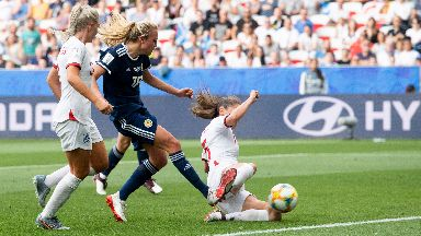 Claire Emslie scored Scotland's first ever World Cup goal.