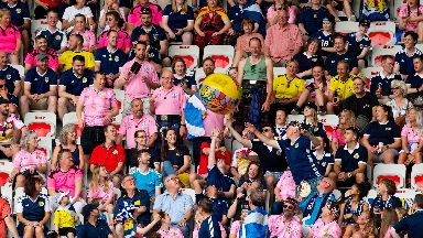 Scots fans had a ball at their first Women's World Cup game.
