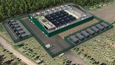 Battery: Artist's impression of the facility.