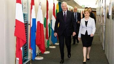 Barnier and Sturgeon met in Brussels.