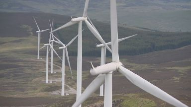 Griffin wind farm: STV News got an exclusive look behind the scenes.
