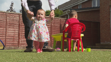 Jessica: Nine-month-old spent first eight months of life on oxygen.