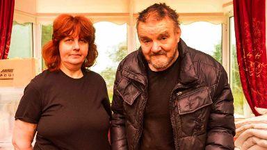 Odd couple: Avril Jones and Eddie Cairney.