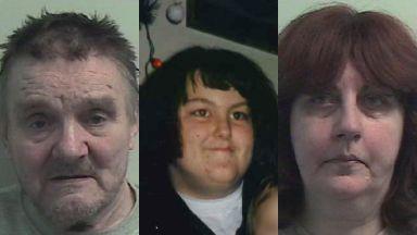 Edward Cairney, Margaret Fleming and Avril Jones.