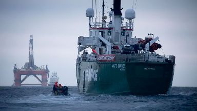 Greenpeace: The protesters overtook the rig.