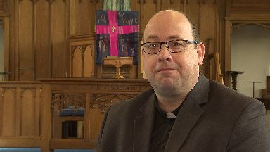 Reverend Bryan Kerr's accepts contactless and text donations.