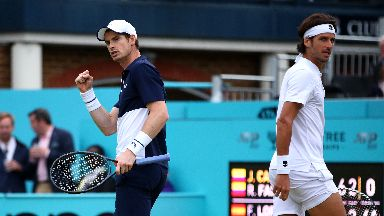 Murray and Lopez were winners at Queen's Club Championship.