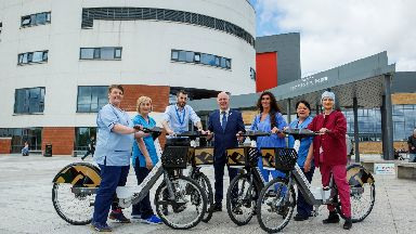 Healthy: The largest electric bike hire scheme in Scotland has been launched.